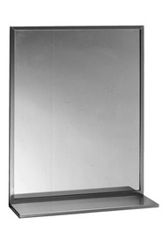 Mirror with shelf and channel framed #BO166182400