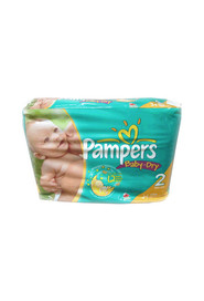 Couche taille 2 (12 - 18 lb) Baby Dry de Pampers #PG05754A000