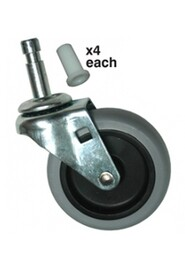 "Swivel 3"" Caster for Utility Cart 3421 #PRFG3421L60"