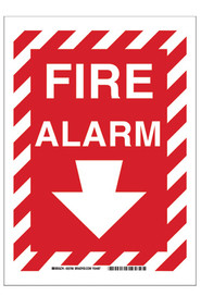 "Bilingual Safety Sign ""Fire Alarm"" #TQSAP762000"