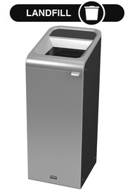 Configure Decorative Refuse Recycling Container, Grey Stenni - 15 G #RB196161400