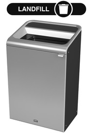 Configure Decorative Refuse Recycling Container, Grey Stenni - 33 G #RB196162800