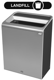 Configure Decorative Refuse Recycling Container, Grey Stenni - 45 G #RB196150700