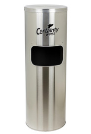 Certainty wipes stainless floor stand #IN00C9SSFS0