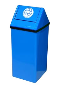 Free Standing Recycling Receptacle without Liner, 21 Gallons #FR301RNL000