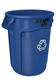 2620 Recycling Station Container 20 Gal Brute with we recycle logo #RB262073BLE