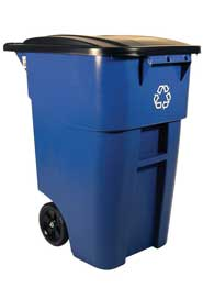 Recycling Rollout Container with Lid 50Gals #RB9W2773BLE