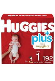 Newborn Baby Diapers, Size 1 (8-14 lbs) Little Snugglers #EM000955483