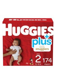 Newborn Baby Diapers, Size 2 (12-18 lbs) Little Snugglers #EM000955486