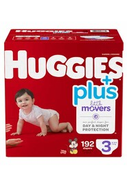 Baby Diapers, Size 3 (16-28 lbs) Little Movers #EM000955503