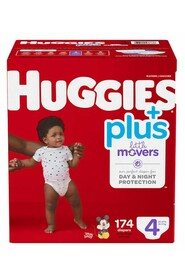Baby Diapers, Size 4 (22-37 lbs) Little Movers #EM000955504