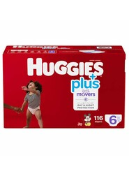 Baby Diapers, Size 6 (35+ lbs) Little Movers #EM000955521