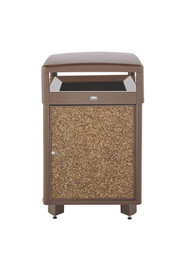 Aspen 38 gal Outdoor Container with panels and locking door #RB0R38SD201