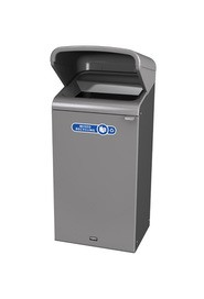 Configure Outdoor Recycling Container with Rain Hood, 23 gal #RB196172000