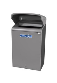 Configure Outdoor Recycling Container with Rain Hood, 33 gal #RB196172700