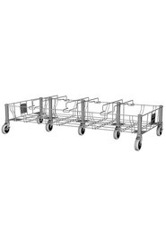 Slim Jim Stainless Steel Quadruple Dolly #RB195619300