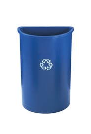 Half Round Recycling Container 3520-73 #RB352073BLE