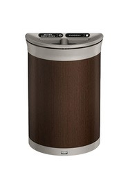 Contenant de recyclage demi-rond 2-compartiments ENHANCE, 11,5 gal #RB197011800