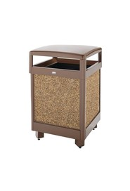 Aspen Hinged Top Outdoor Container with Stone Panels Aspen #RB38HT201PL