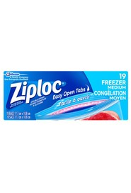 Medium Size Freezer Bags Ziploc #PR004302000