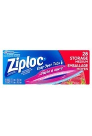 Medium Storage Bags with Easy Open Tabs Ziploc #PR003404000