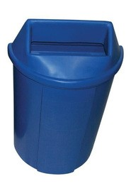 Half Moon Recycling Containers Bullseye, 18 gal #WH519B00BLE