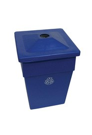 Jumbo Recycling Container Bullseye, 55 gal #WH108J00BLE