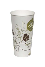 Paper Cup with Leavez Print #EC700912000