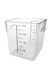 Square Food Storage Containers Crystal-Clear #RB630800CLR