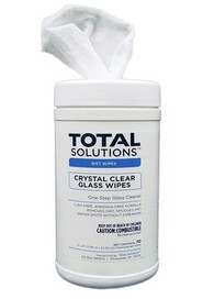 Crystal Clear Glass Cleaning Wipes Total Solutions #WH001558000