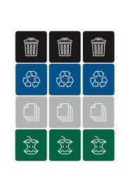 Recycling Labels Waste Watcher #BU100205000