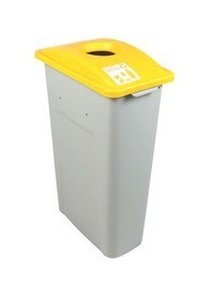 Single Container Kit for Cans & Bottle Waste Watcher, Yellow #BU100934000