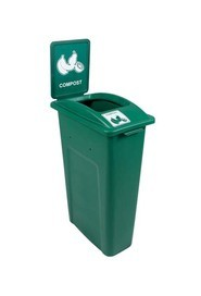 Single Container for Compost Waste Watcher, Open Lid #BU101040000