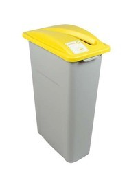 Single Container for Paper Waste Watcher, Grey-Yellow #BU100937000