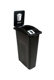 Single Trash Container Waste Watcher, Open Lid #BU101033000