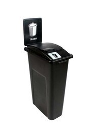 Single Trash Container Waste Watcher, Lift Lid #BU101034000