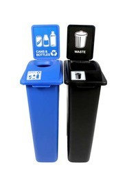 Duo Containers for Cans and Bottle-Waste Waste Watcher #BU101052000