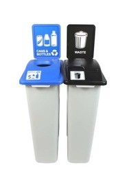 Duo Containers for Cans and Bottle-Waste Waste Watcher, Lift Lid #BU100967000