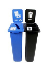 Duo Containers for Paper-Waste Waste Watcher, Open Lid #BU101054000