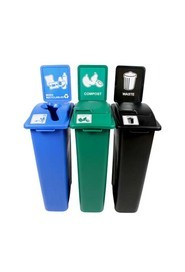 Trio Containers Recycling, Compost and Waste Waste Watcher, Lift Lid #BU101069000