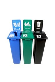 Trio Containers Recycling, Organic and Waste Waste Watcher, Lift Lid #BU101067000