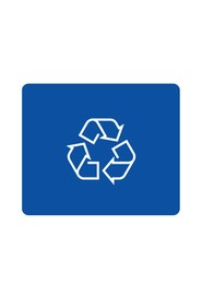 Recycling Label with Icon for Outdoor Container OCTO #BU100223000