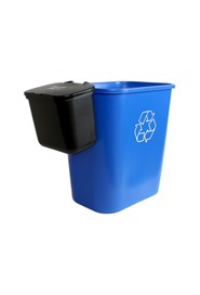 Recycling Container and Hanging Waste Basket with Lid OFFICE COMBO #BU101408000