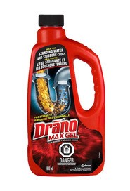 Max Gel Clog Remover Drano, 900 mL #JH007232072