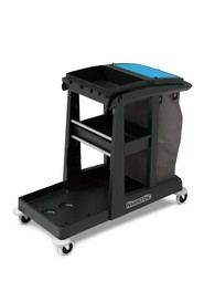 Janitor Cart with Shelf Storage and Cleaning Bag ECO-MATIC EM3 #NA911162000