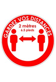 Autocollants au sol GARDEZ VOS DISTANCES #CV0COLLANT1