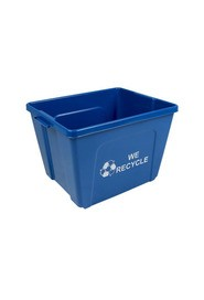 Poubelle simple Ruban de Mobius - We Recycle - 2 côtés 14 gal #BU103602000