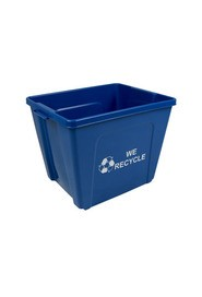 Poubelle simple Ruban de Mobius - We Recycle - 2 côtés 16 gal #BU103607000