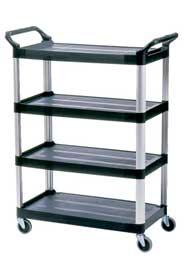 Chariot de service à 4 tablettes Rubbermaid 4096 #RB004096NOI