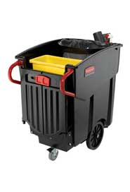 Collecteur mobile à déchets Rubbermaid 9W73 - 9W71 Méga Brute #RB009W73NOI